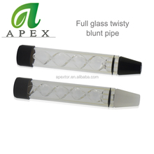 Wholesale the full twisty glass blunt pipe for dry herb