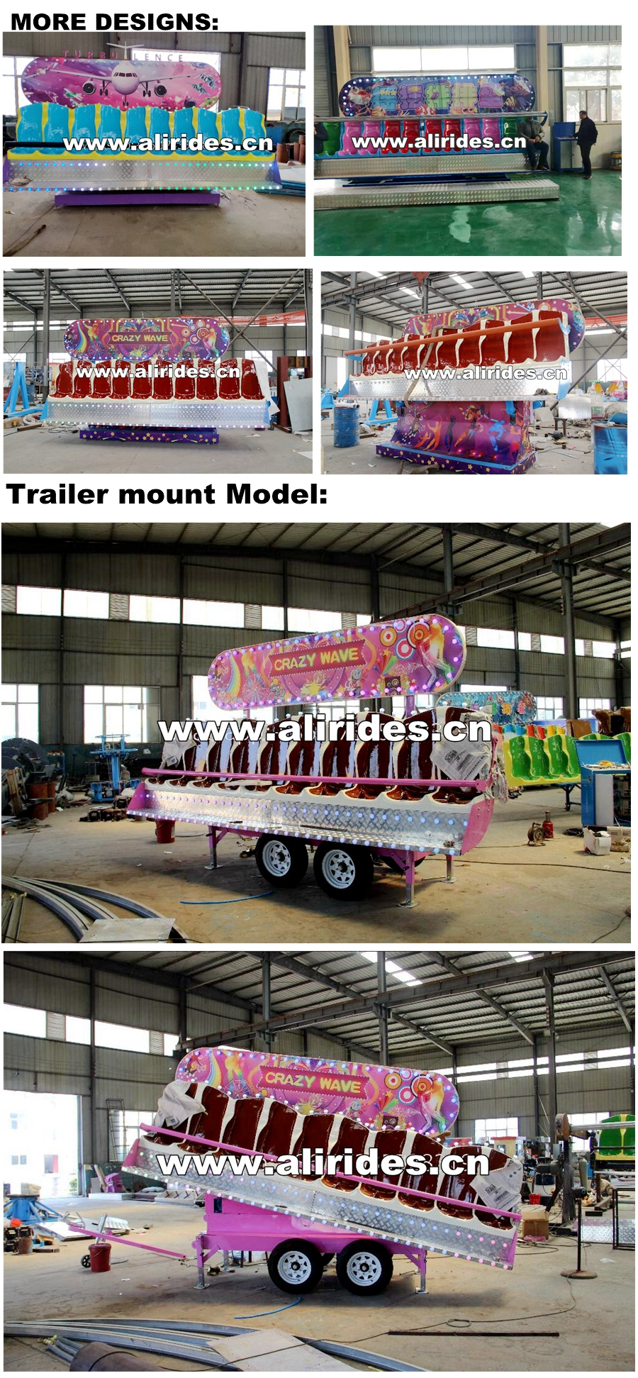 [Ali Brothers]Happy dancing! Portable Mini Miami crazy bus Amusement Carnival Rides