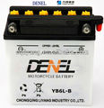 Electric Scooter/Motorcycle Battery YB6L-B high performance dry-charged storage battery
