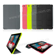 Rubberized PC Hard Cover/Case for iPad Smart Cover