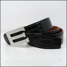 handmade leather belt,fashion leather belt,high quality crocodile belt
