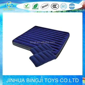 outdoor inflatable air blue pvc Flocked Bed for promotions and wholesale
