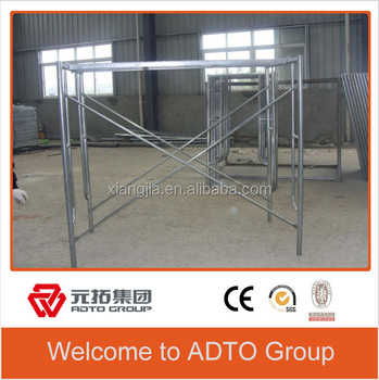 Durable Painted scaffolding H type frame for building oil and gas for africa