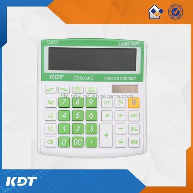 New digital calculator with check function,desktop calculator CT-500J-C