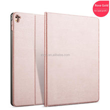 Rose gold of tree grain case for ipad pro 9.7 , luxury high quality PU case for ipad pro 9.7