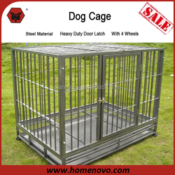 Cheap Indoor Outdoor Dog Kennel Commercial Stainless Steel Dog Cage with Wheels and Lock System