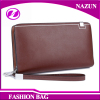 2016 custom brown coin purse long style simple crazy horse leather bifold short card holder clip men's leather wallet