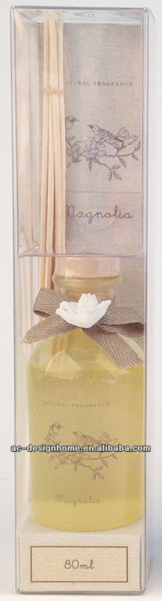 MAGNOLIA FRAGRANCE 100ML AROMA HOME REED DIFFUSER GIFT SET W/GLASS BOTTLE AND 6 PCS REED
