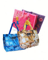 New design pp woven reusable zipper shopping bag with high quality,OEM orders arewelcome