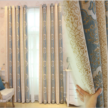 China custom design jacquard window thermal blackout curtains for the living room