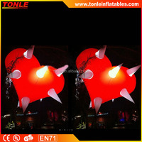 custom led lighted inflatable moon ball for sale