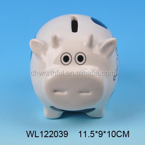 Wholesale Cow Shaped Ceramic Piggy Bank Ceramic Money Bank