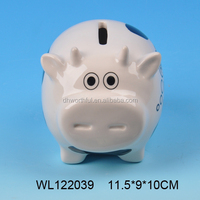 Wholesale cow shaped ceramic piggy bank,ceramic money bank ,ceramic coin bank