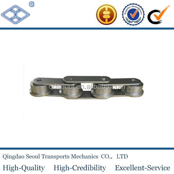 40Mn plates stainless steel pitch 31.75mm double strand chains C2050SS large roller type