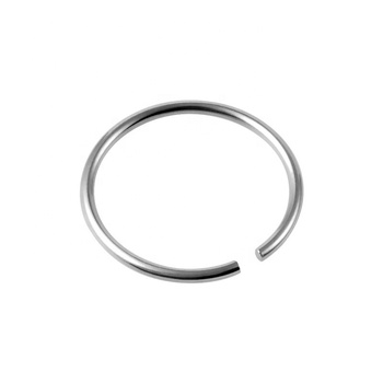 Fashion stainless steel body piercing jewelry thin nose ring with small open