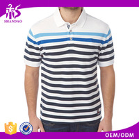 2016 Guangzhou Shandao OEM Cheap 200g 35% Cotton 65% Polyester Short Sleeve Import Export Clothing