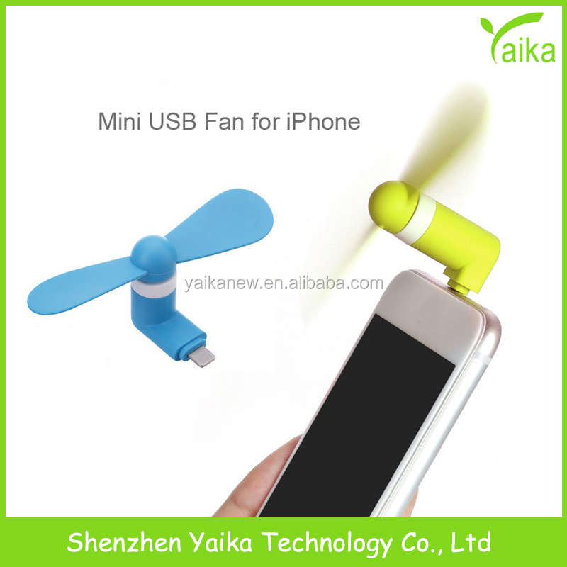 Yaika Custom Micro Mobile Phone Portable USB Mini <strong>Fan</strong> For iPhone iOS