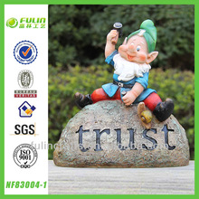 Trust Sign Fairy Handmade Gnome Polyresin Statue