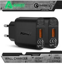 Newest Original Aukey Turbo Charger Quick Charge 3.0 Wall Charger EU US Plug Mini USB Charger
