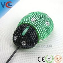 Exqusite Business Gift Rhinestone Wired Optical simple mouse crystal