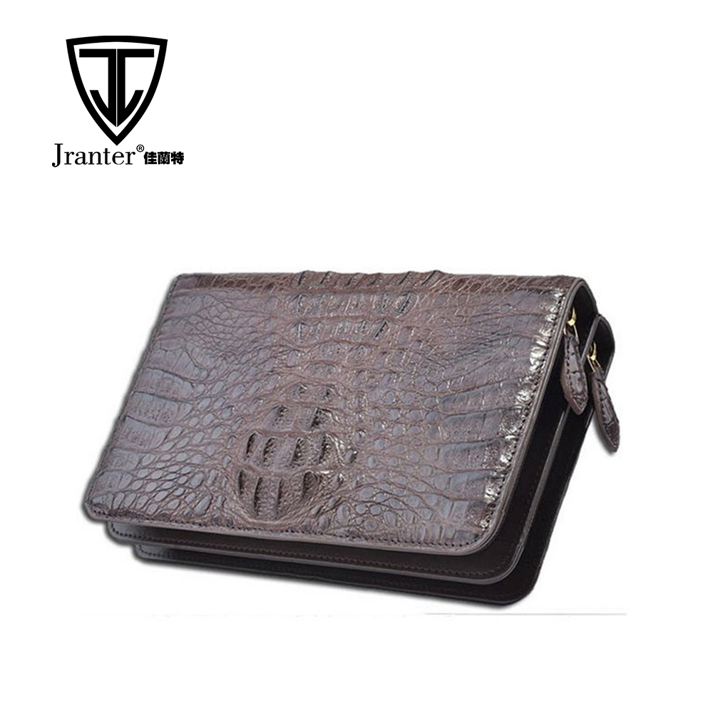 Luxury Crocodile Clutch Bag Men Genuine Leather Brown Briefcase Manufacturer
