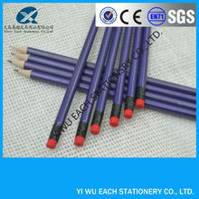 "7""pencil full printing wooden pencil sharpened hb pencil with eraser logo available"