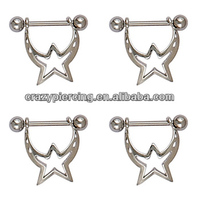 Hot Sale Piercing Shooting Star Nipple Shield Jewelry