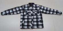 Men's Polar fleece Check Pattern Padded Shirt