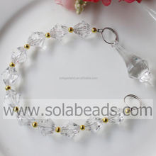 Spring Plastic Bead Lamp Chandelier Garland Dropping