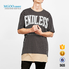 Top Selling Short Sleeve Custom Stripe T-shirt Free Label Screen Printing Streetwear Tees Plain Cotton T-shirt 160G
