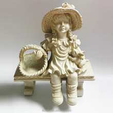 factory made cheap sitting resin cherub baby angel statue figurines