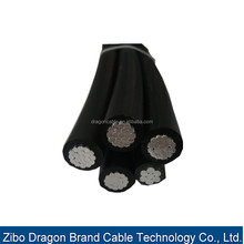 XLPE Insulated Aerial Bundled Cables 6.35/11,12.7/22,19/33kV nfc abc cable size