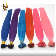 Alibaba in stock fast shipping fashionable and popular high quality multi-colored hair extensions