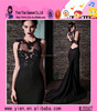 2015 Latest Alibaba Fashion Girl Party Best Long Black Evening Dress Sexy Long Mermaid Backless Best Long Black Evening Dress