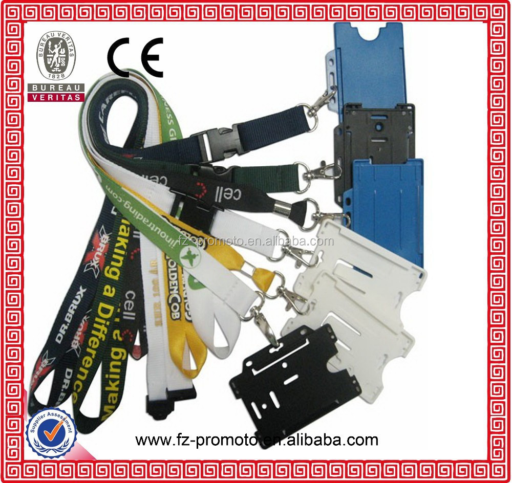 Customise polyester lanyard with PVC card holder attached