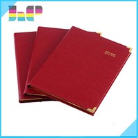 high quality golden stamping leather hardcover book printers in China