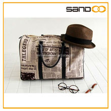 New faux Leather newsPaper shoulder duffel womens sling bag leather travel bag