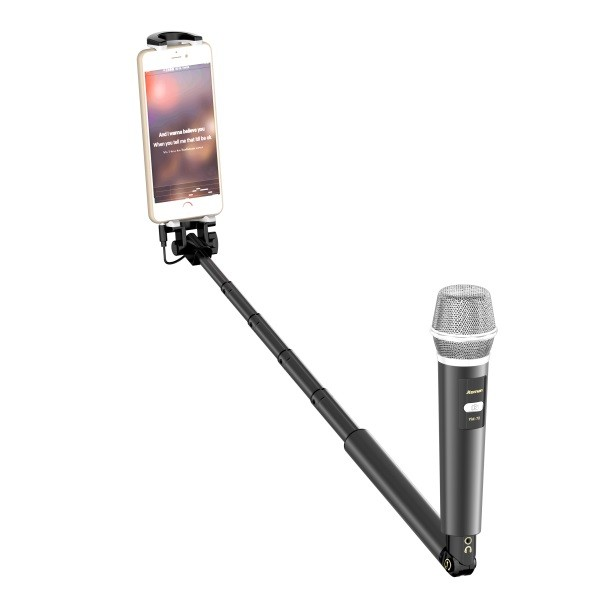 Mini Karaoke Player microphone selfie stick KTV Singing Record for Phones Computer, karaoke for phone
