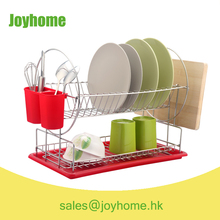 hot sale two tier stainless steel dish drying rack