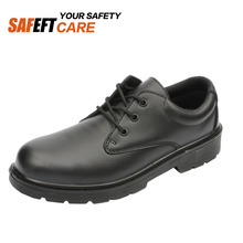 Black pu inJection anti static esd sexy work office safety shoes
