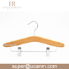 HRWK-FF1BN baby wooden toddler kids clothes bottom clips hangers