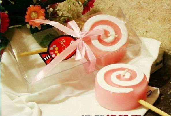sweet lollipops wedding candles