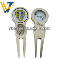 Golf Club Golf Divot Fork,Repair Tool,Pitch Repair with Ball Marker