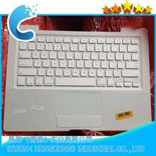 "Used Top Case with TOUCHPAD FITS for Macbook 13"" A1181 US Keyboard White with silver cable"