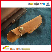 Custom leather knife sleeves for protection wholesale