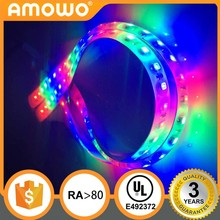 DC12/24V Ra80 60leds 14.4w 5050 cheap color changing programable LED strip with UL Listed