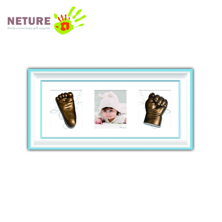 Newborn Baby 3D Hand & Foot Casts Kit Shadow Box Photo Frame
