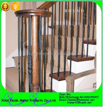Satin Black Round Tubular Iron Stair Spindles Available