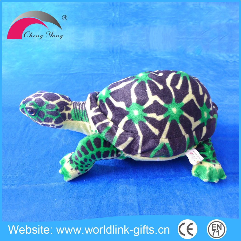 2016 Newest High quality blue soft plush sea turtle toy for children