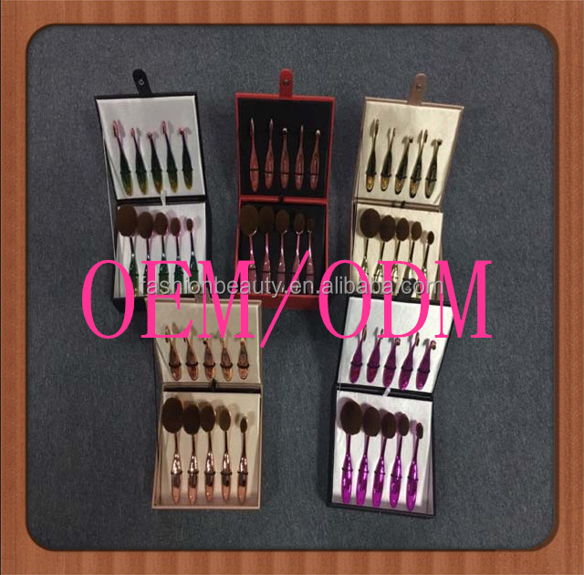 10pcs toothbrush makeup brush set use for BB cream foundation,lip,eyeshadow,eyebrow